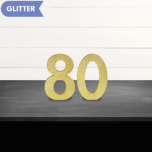 Glitter Gold 80 Sign Kit