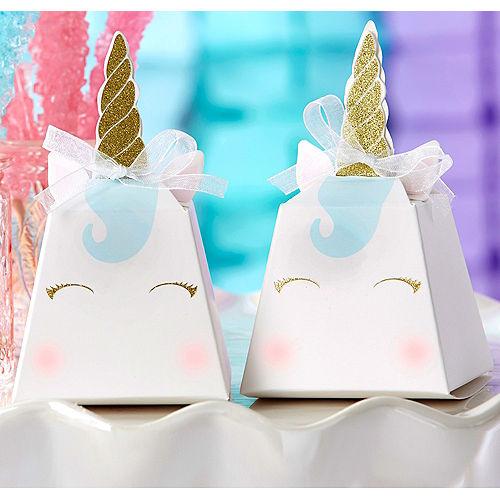 unicorn favor boxes 12ct