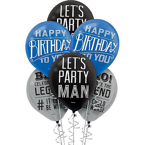 Happy Birthday Classic Balloons 15ct