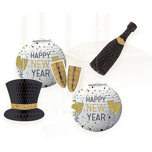 new years eve honeycomb decorations paper lanterns