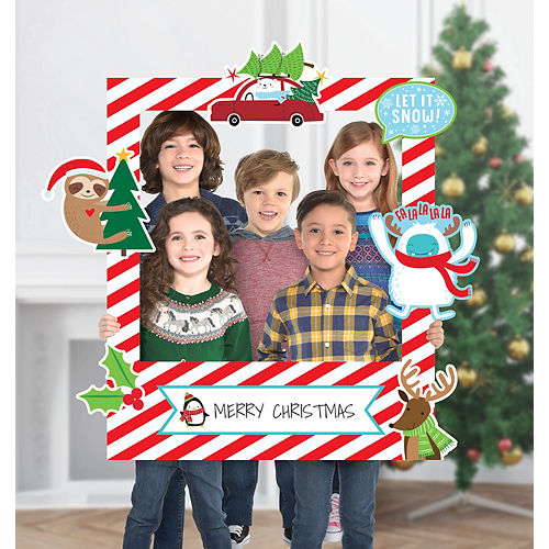 Christmas Photo Booth Props Decorations Accessories