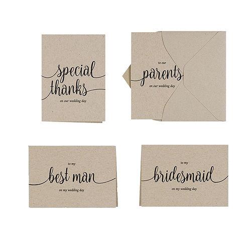 Printable wedding invitations invitation kits party city canada wedding party thank you set kraft 30ct stopboris Choice Image