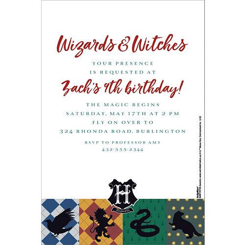 Birthday invitations custom birthday party invites party city custom harry potter invitations stopboris Choice Image