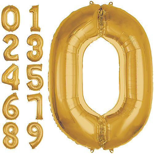 50in Gold Number Balloon 0