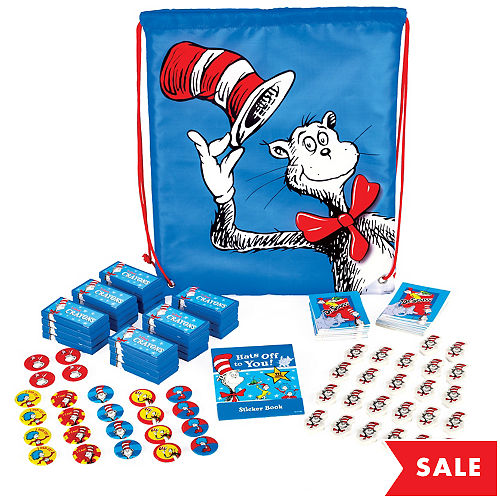 e0f791c0ec Exclusive Dr. Seuss Drawstring Backpack with Favors for 24 Quick View