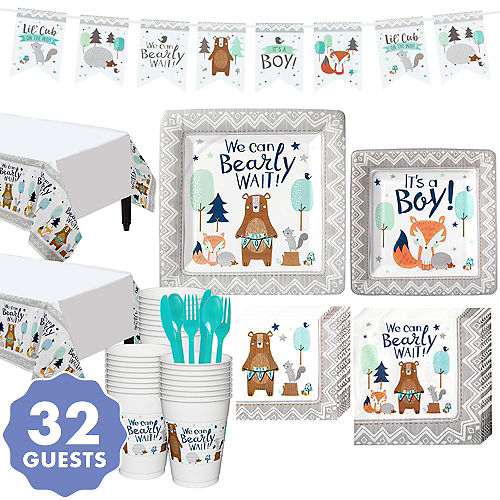 222f24067 Can Bearly Wait Baby Shower Kit for 32 Guests