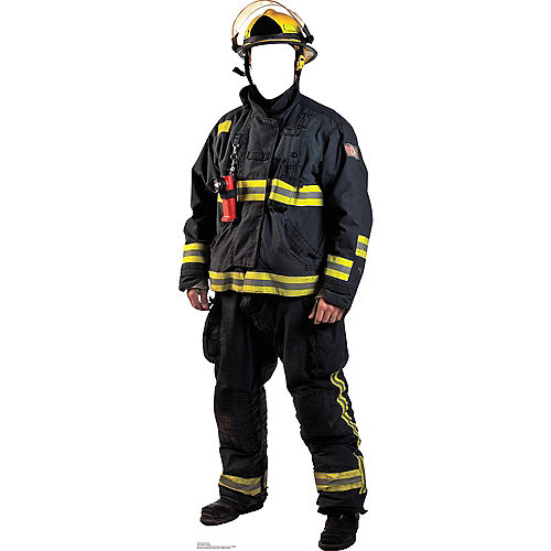 Fireman Life Size Photo Cardboard Cutout