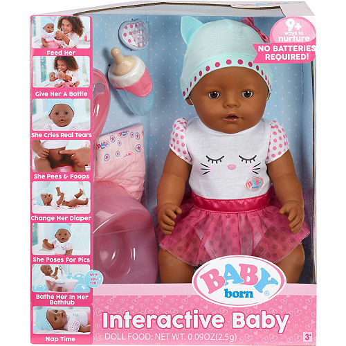 b4e91abac71d Baby Born Interactive Baby Doll with Dark Brown Eyes