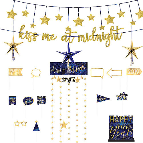 New Years Photo Booth Props Backdrops Party City