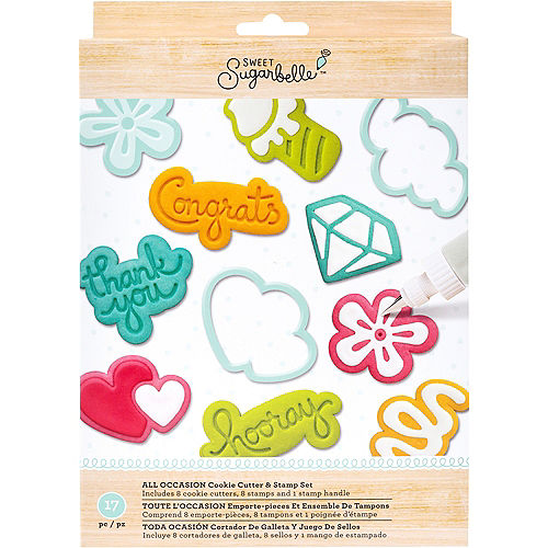 Sweet Sugarbelle All Occasion Cookie Cutter Stamp Set 17pc