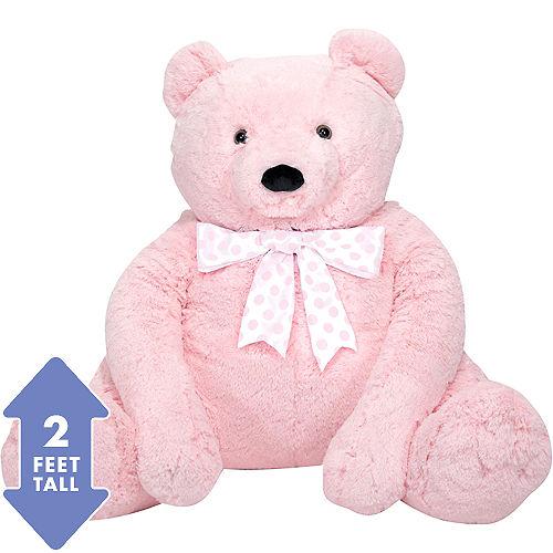 06364a415 Melissa   Doug Giant Pink Teddy Bear Plush