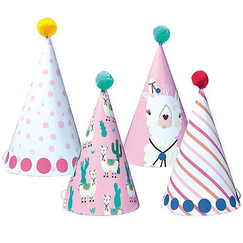 e022fbe9b66dc Llama Party Hats 4ct