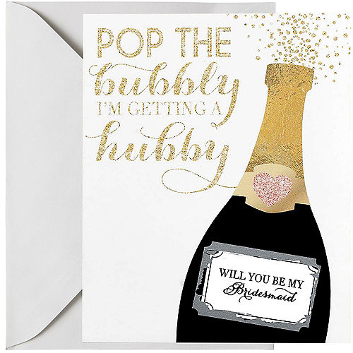 champagne bridesmaid scratch off card