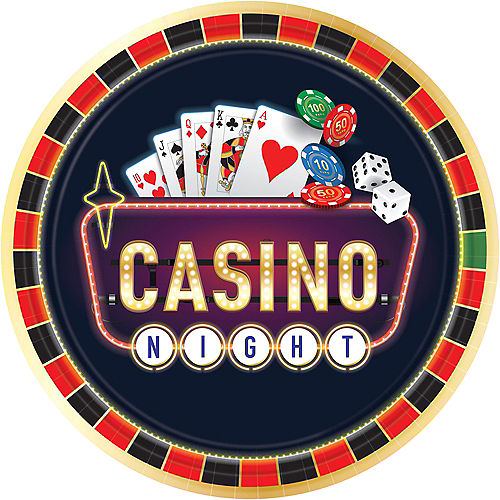 e4637a3a39d6a3 Roll the Dice Casino Dinner Plates 8ct