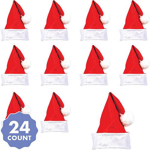 c36bfc4ec6e19 Felt Santa Hats 24ct