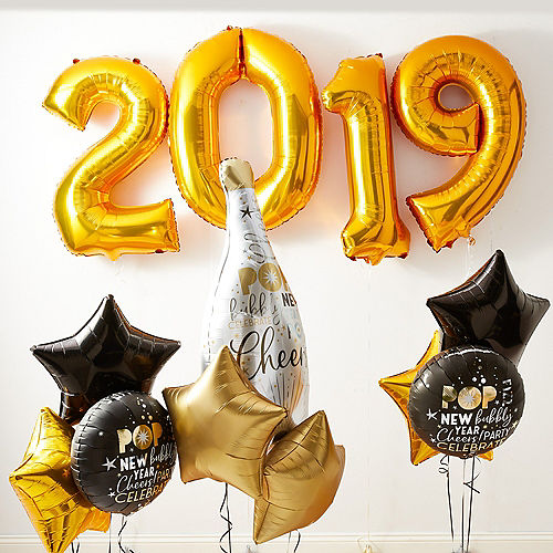 2019 Happy New Year S Eve Balloons Balloon Decorations Party City