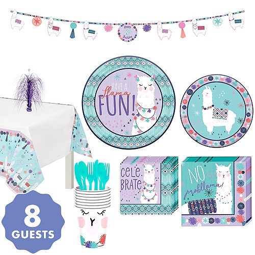 Llama Fun Tableware Kit For 8 Guests