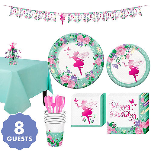 Floral Fairy Tableware Kit For 8 Guests