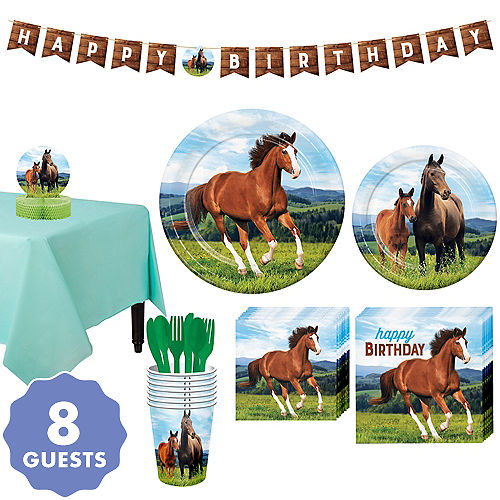 Wild Horse Tableware Kit For 8 Guests