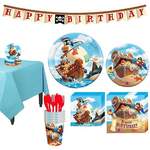Treasure Island Pirate Tableware Kit For 8 Guests
