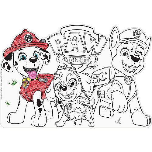 PAW Patrol Coloring Placemats 8ct Party City