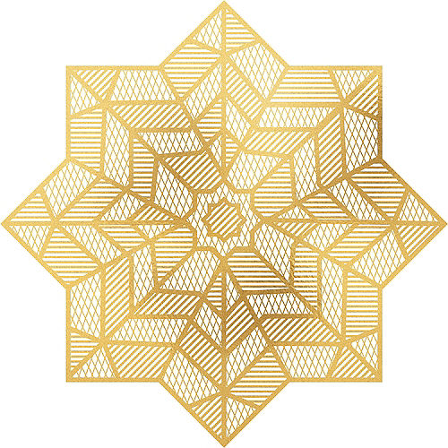 Eid Star Vinyl Placemat 15in Party City