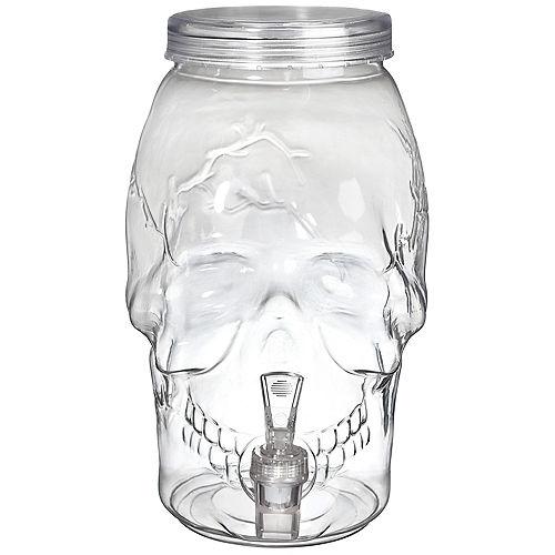 Skull Plastic Drink Dispenser, 1gal