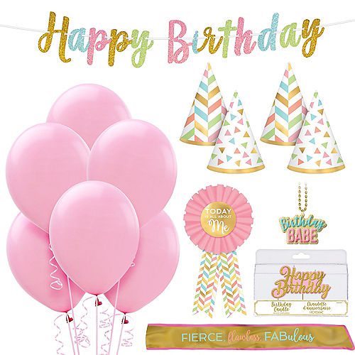 Gold and Silver 30th Birthday Party Supplies Milestone Birthday Kit Thirtieth Tableware Pack Anniversary Birthday Decorations 65+ Pieces for 16 Guests!