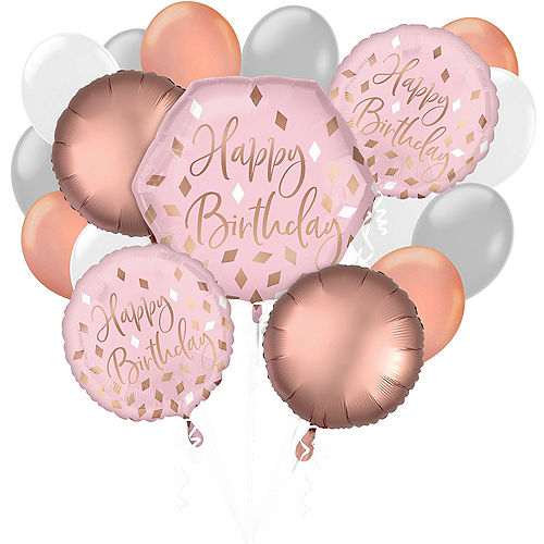 Party City Happy Birthday Balloons Black