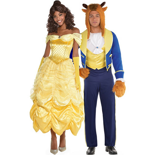 adult beauty the beast couples costumes beauty and the beast