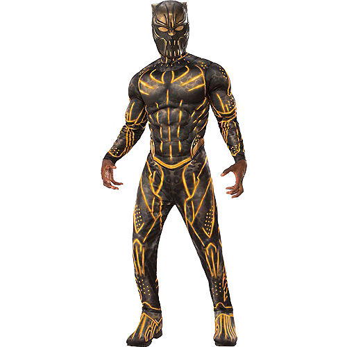 Mens Erik Killmonger Muscle Costume - Black Panther
