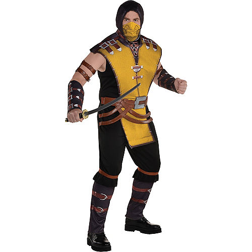 Adult Scorpion Plus Size Costume - Mortal Kombat Klassic