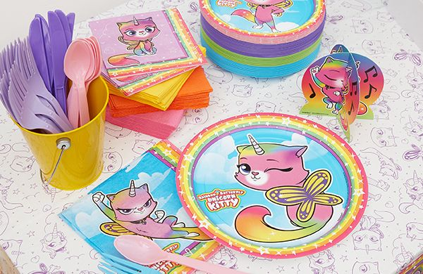 Rainbow Kitty Party Supplies LEGO Birthday Theme