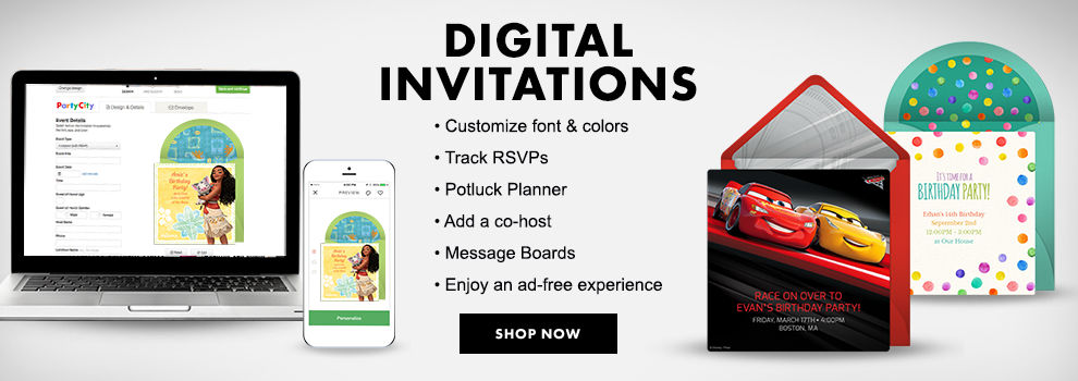 Digital Birthday Invitations