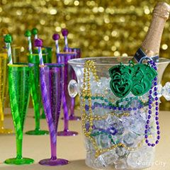 Mardi Gras party and cocktail ideas