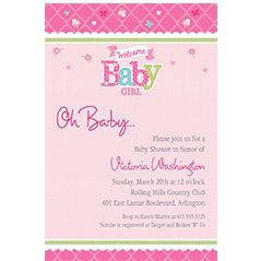 Custom baby shower invitations baby shower invites party city baby shower invitations for girls filmwisefo