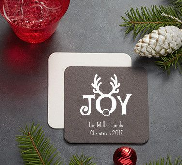 Personalized Christmas Coasters