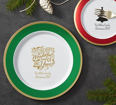 Personalized Christmas Plates