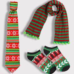 Christmas Socks, Scarves, Ties