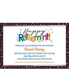 Retirement Theme Party Invitations
