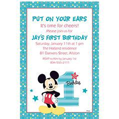 Custom 1st Birthday Invitations