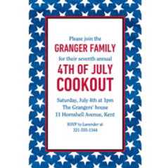 4th of July Invitations