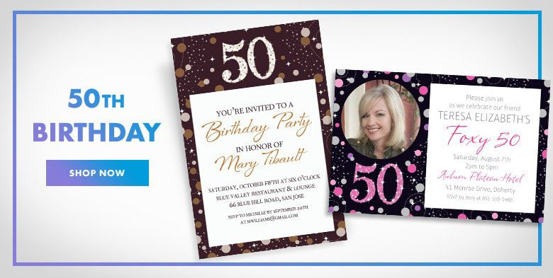 Custom milestone birthday invitations party city 50th birthday invitations stopboris