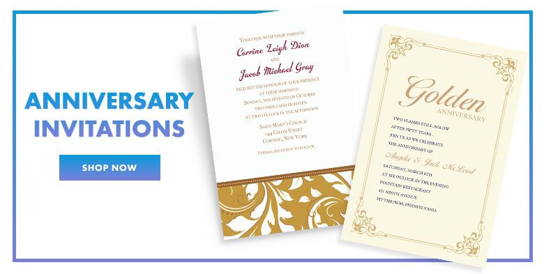 Anniversary invitations invitation kits party city anniversary invitations shop now stopboris Image collections