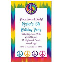 60s Theme Party Invitations