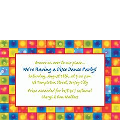 70s Theme Party Invitations