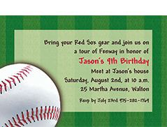 Baseball Invitations