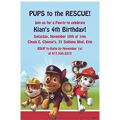 Custom Boys' Birthday Invitations