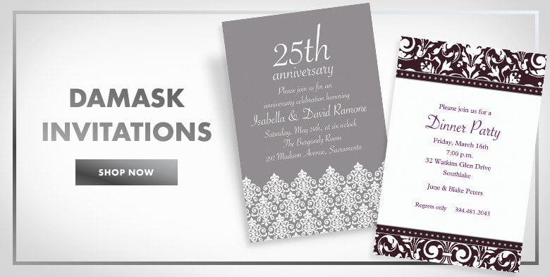 Damask Invitations