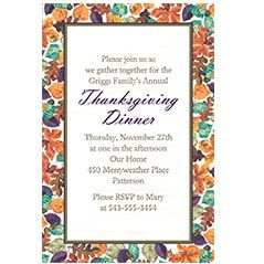 Fall Theme Party Invitations